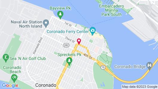 Coronado Island Inn Map