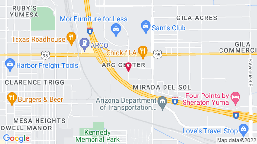 Towneplace Suites Marriott Yuma Map