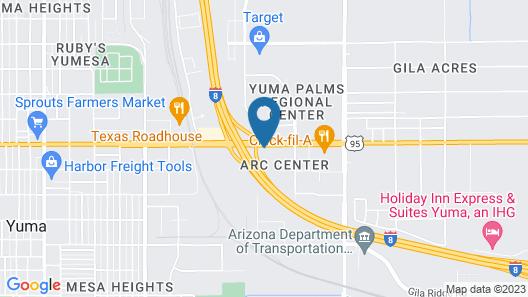 Motel 6 Yuma, AZ - East Map
