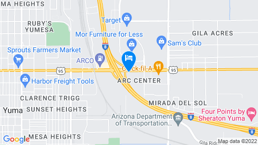 Motel 6 Yuma, AZ - East Map