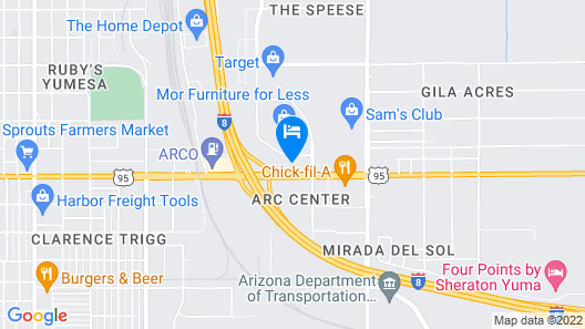 Hampton Inn & Suites Yuma Map