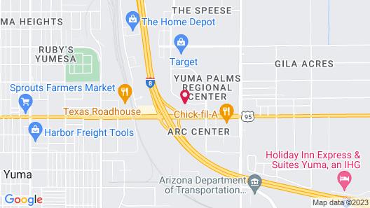 Shilo Inn Hotel & Suites - Yuma Map