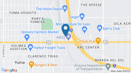 Radisson Hotel Yuma Map