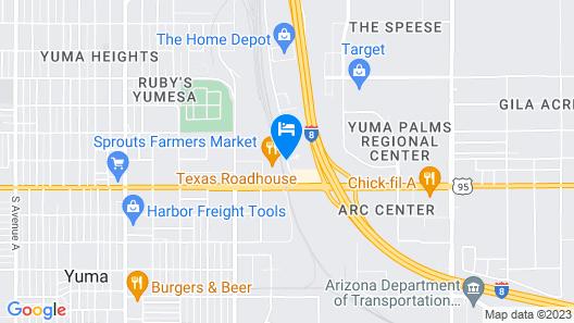 Radisson Hotel Yuma Map
