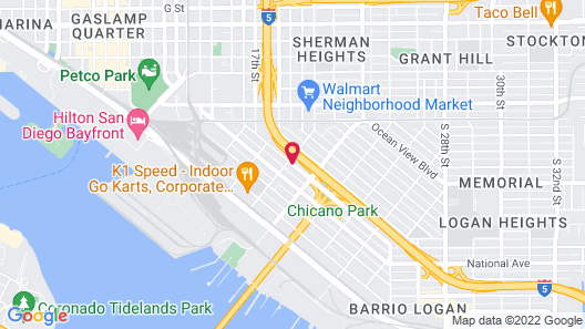 Travelodge by Wyndham San Diego Downtown Convention Center Map