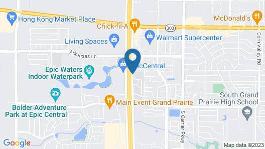 Courtyard by Marriott Dallas Grand Prairie Map