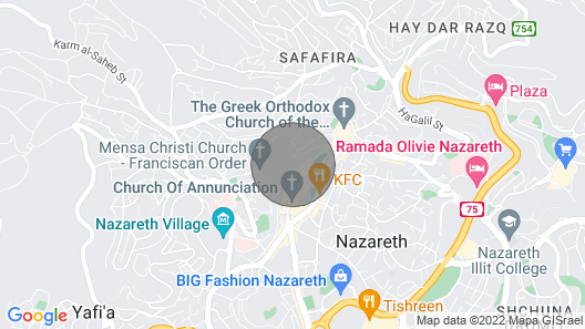 Famous Room in Nazareth Map