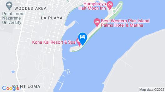 Kona Kai Resort & Spa, A Noble House Resort Map