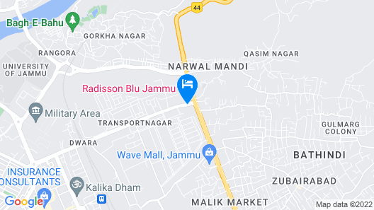 Radisson Blu Jammu Map