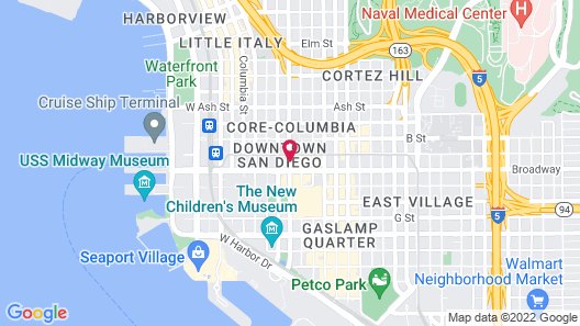 The Bristol Hotel San Diego Map