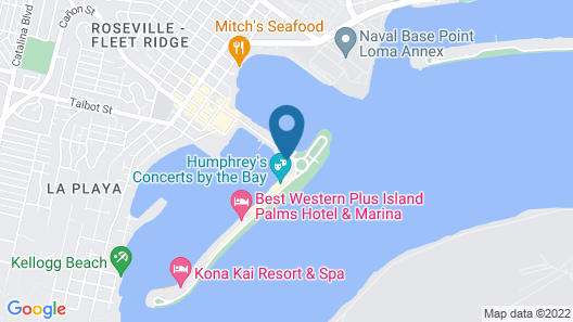 Waterfront Suite on San Diego's Shelter Island Map