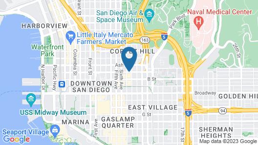 Marriott Vacation Club Pulse, San Diego Map