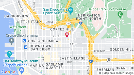 San Diego Downtown Lodge Map