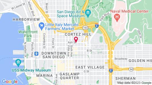 Baymont by Wyndham San Diego Downtown Map