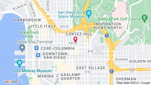 Holiday Inn Express San Diego Downtown Map
