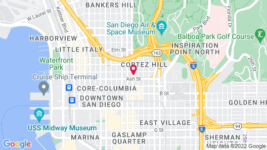 TownePlace Suites by Marriott San Diego Downtown Map