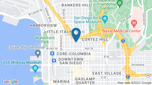 Motel 6 San Diego, CA - Downtown Map