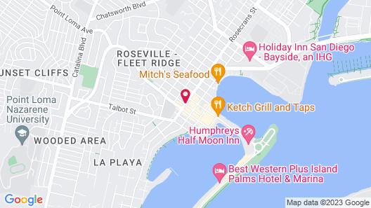 Sunrise Inn San Diego Map