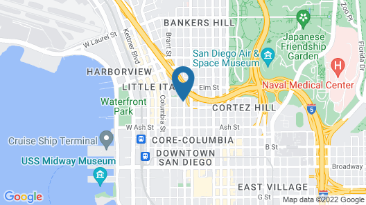 ITH Hostels Downtown San Diego Map