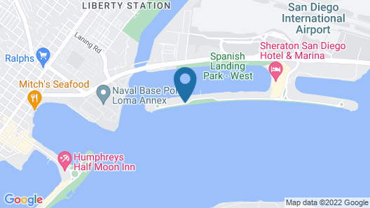 Hilton San Diego Airport/Harbor Island Map
