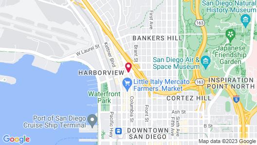 Harborview Inn & Suites San Diego Harbor Map