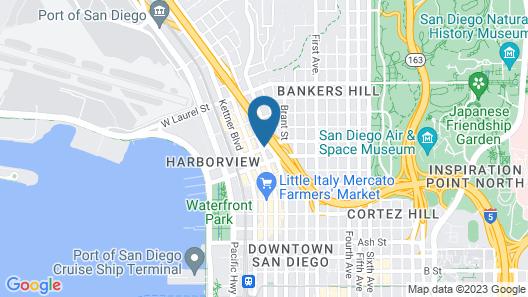 RK Hostel San Diego Map