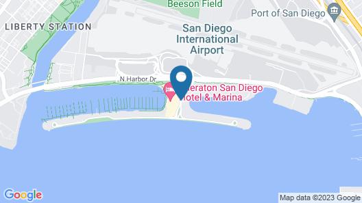 Sheraton San Diego Hotel and Marina Map