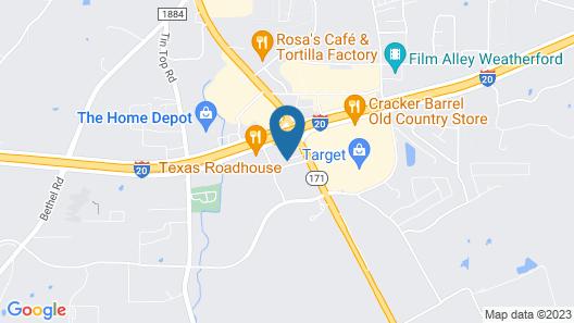 Motel 6 Weatherford, TX Map