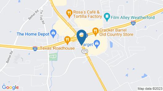 Hampton Inn Weatherford Map