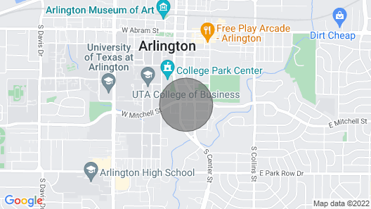 Cozy Townhome Walk to Uta, Downtown, Mins to At&t Map
