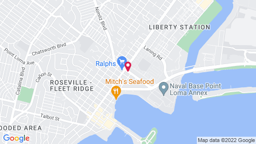 Consulate Hotel Airport/Sea World San Diego Area Map