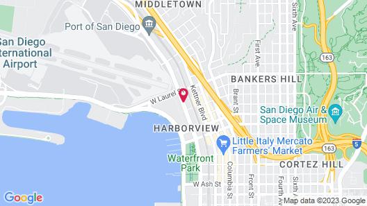 Motel 6 San Diego Airport - Harbor Map