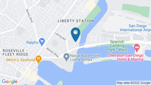 Homewood Suites by Hilton San Diego Airport/Liberty Station Map