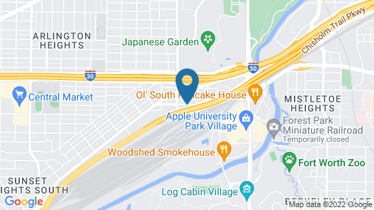 TownePlace Suites Fort Worth University Area/Medical Center Map