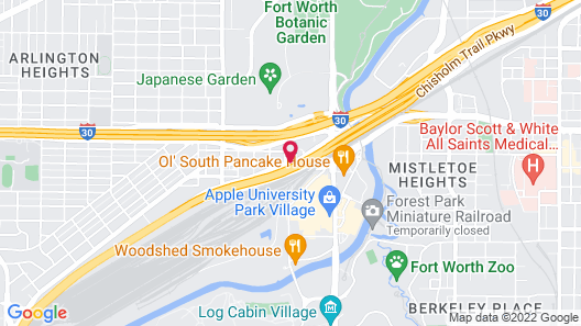 SpringHill Suites by Marriott Fort Worth University Map
