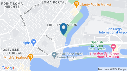Courtyard by Marriott San Diego Airport/Liberty Station Map