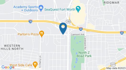 Super 8 by Wyndham Fort Worth TX Map