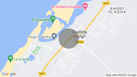 VILLAS FOR RENT in oualidia Map