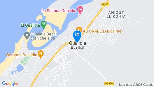 Le Lagon Bleu Oualidia Map