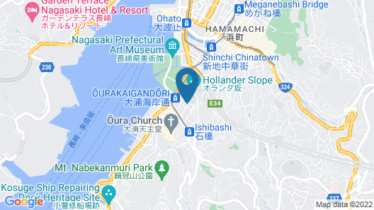 MP HOTELS Nagasaki Mizubenomori Map