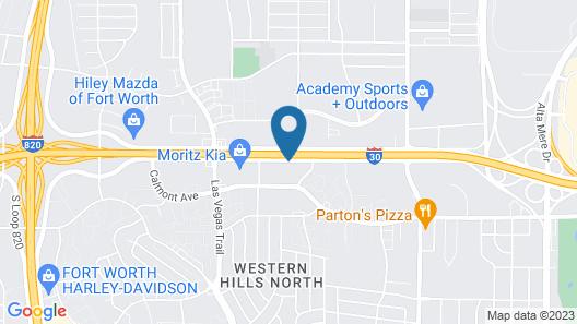 Americas Best Value Inn Ft. Worth Map