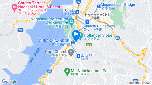 Hotel Monterey Nagasaki Map
