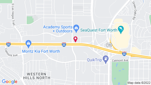 Studio 6 Fort Worth, TX - West Medical Center Map