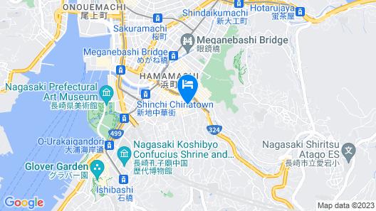 Richmond Hotel Nagasaki Shianbashi Map