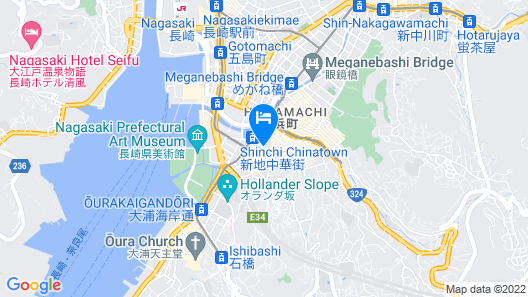 Dormy Inn Nagasaki Shinchi Chinatown Hot Spring Map
