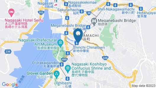 Candeo Hotels Nagasaki Shinchi Chinatown Map