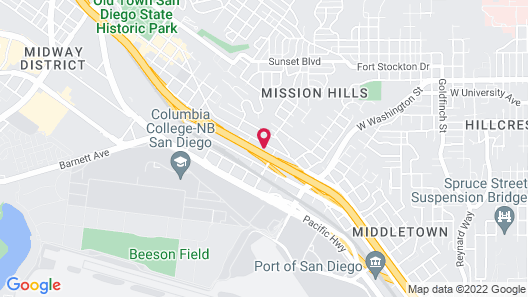 Holiday Inn Express San Diego Airport - Old Town, an IHG Hotel Map
