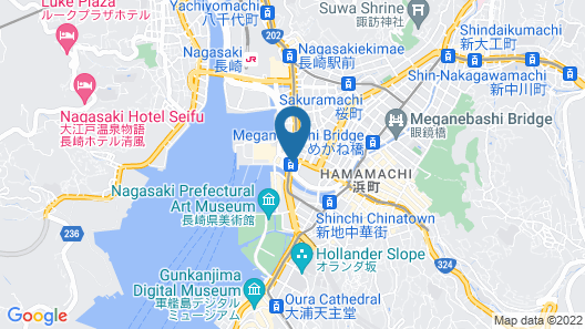Belleview Nagasaki Dejima Map