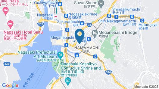 Hotel H2 Nagasaki Map