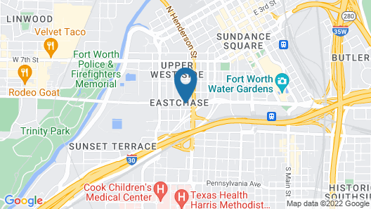 Holiday Inn Express Hotel & Suites Fort Worth Downtown, an IHG Hotel Map